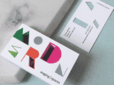 Modern Die Cut Business Card