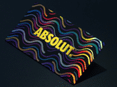 Retro Multi Foil Business Cards