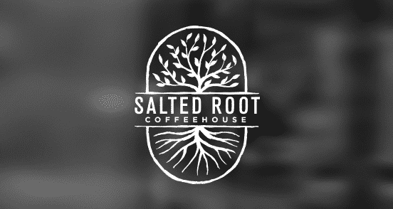 salted root coffeehouse logo design  design inspiration