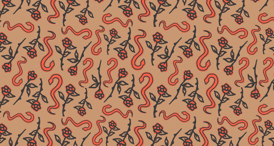 Snakes and Roses Pattern