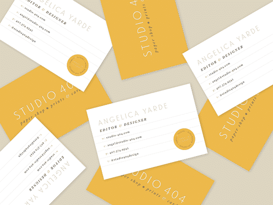 Studio 404 Business Card