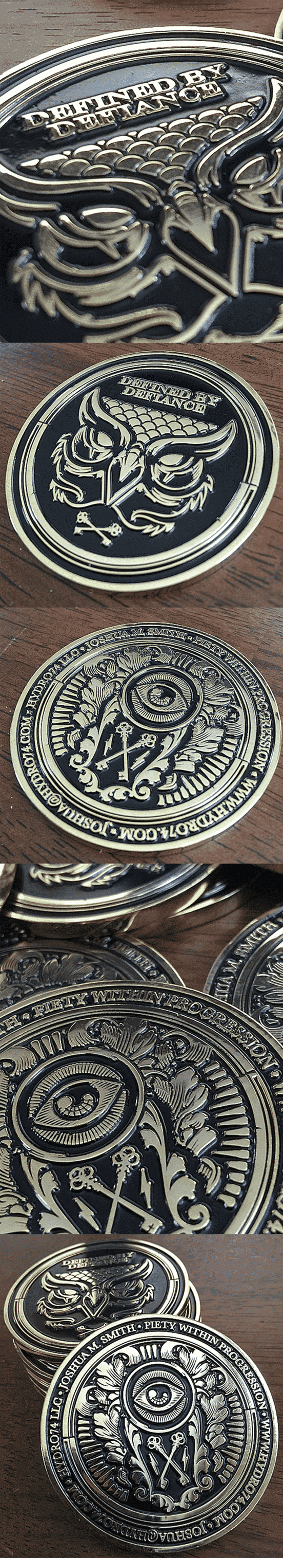 Amazing Metal Coin Business Card