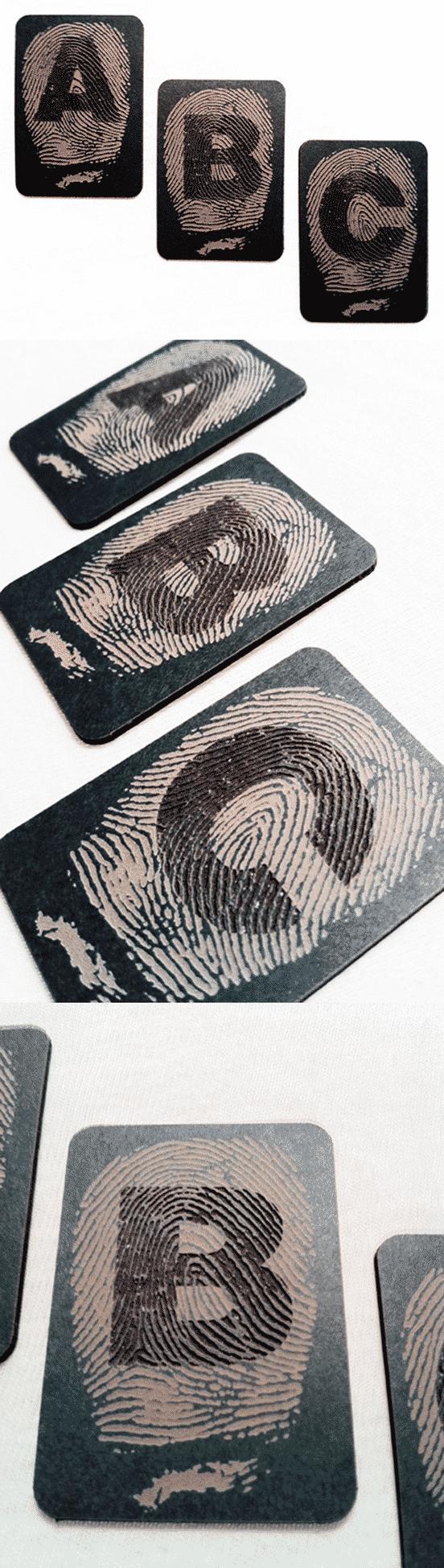 Laser Cut Fingerprint Business Card