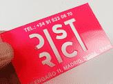 Laser Cut Plastic Business Card