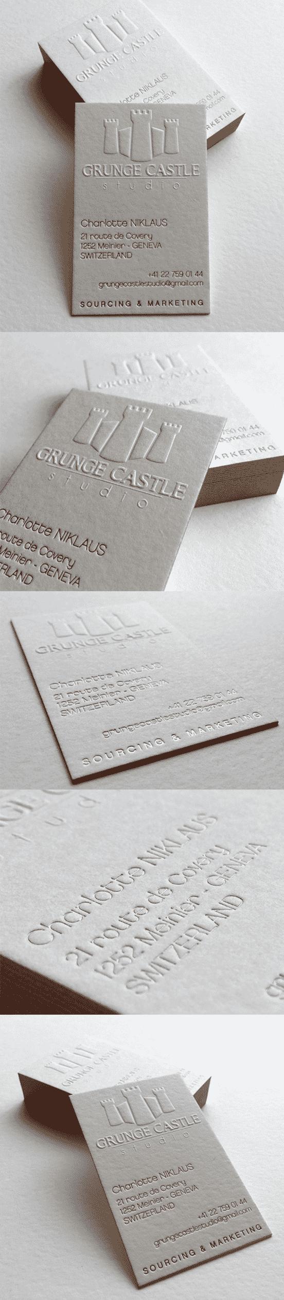 Sculptural Embossing Business Card