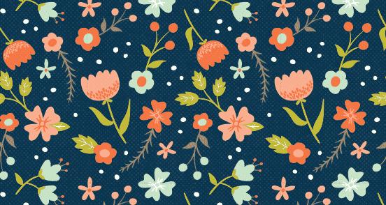 Spring Flower Pattern | Pattern Download | The Design