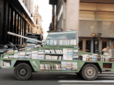 A Tank-Shaped Traveling Library