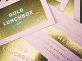 Gold Lunchbox Business Card