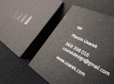 Painted Black Business Card Design