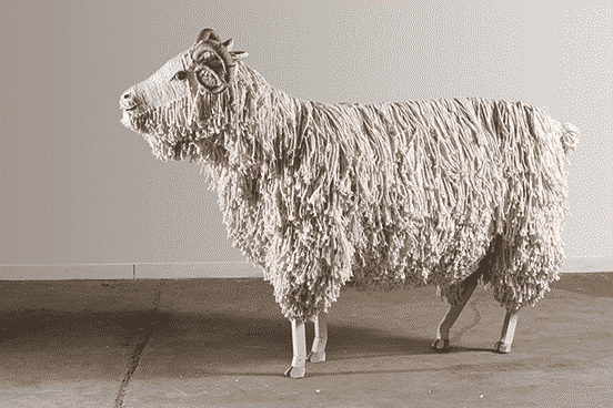 This Ram Was Made using Mops and Shoe Lace