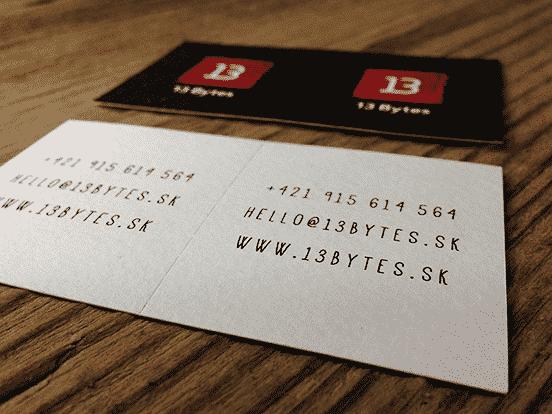13 Bytes Design Studio Business Cards