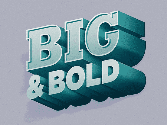 Big & Bold 3D Type | Fonts Inspirations | The Design Inspiration