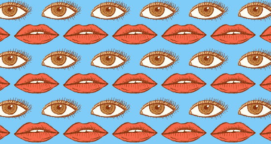Eyes and Lips Seamless