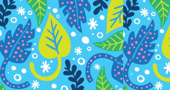 Graphic Leaf Pattern