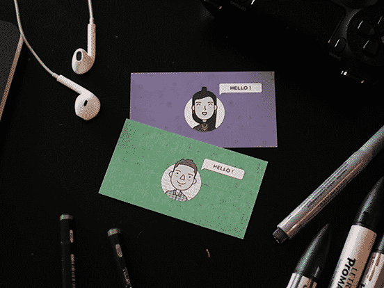 My & My GF's Business Cards