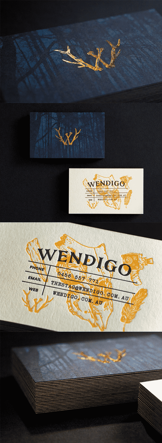 Mysterious Copper Foiled Business Card