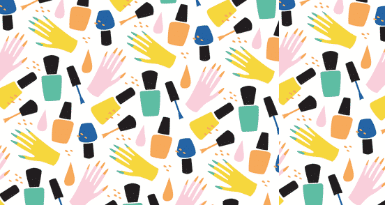 Nail Polish and Hands Pattern