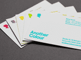 Striking Colour Block Business Cards