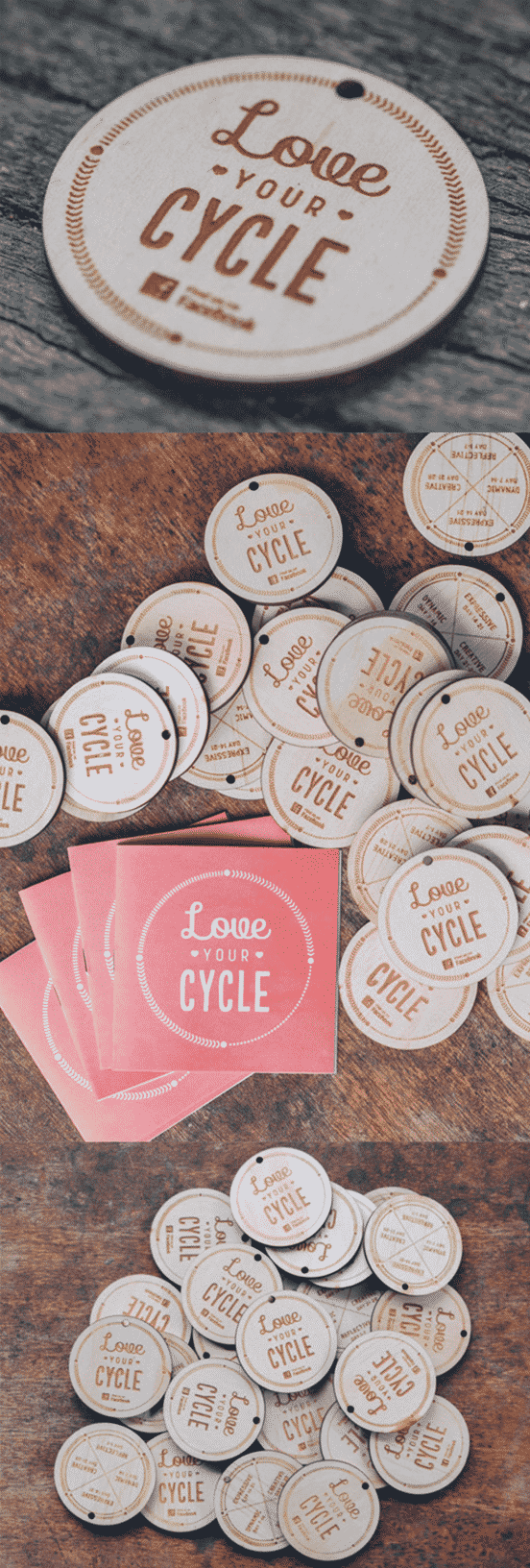 Wooden Circular Business Card