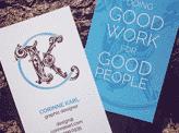 Corinne Karl Design Business Cards