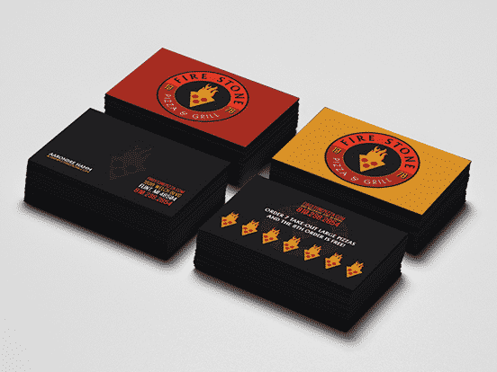 Fire Stone Pizza Business Card
