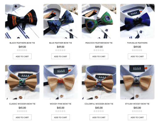 wooden-feather-bow-ties