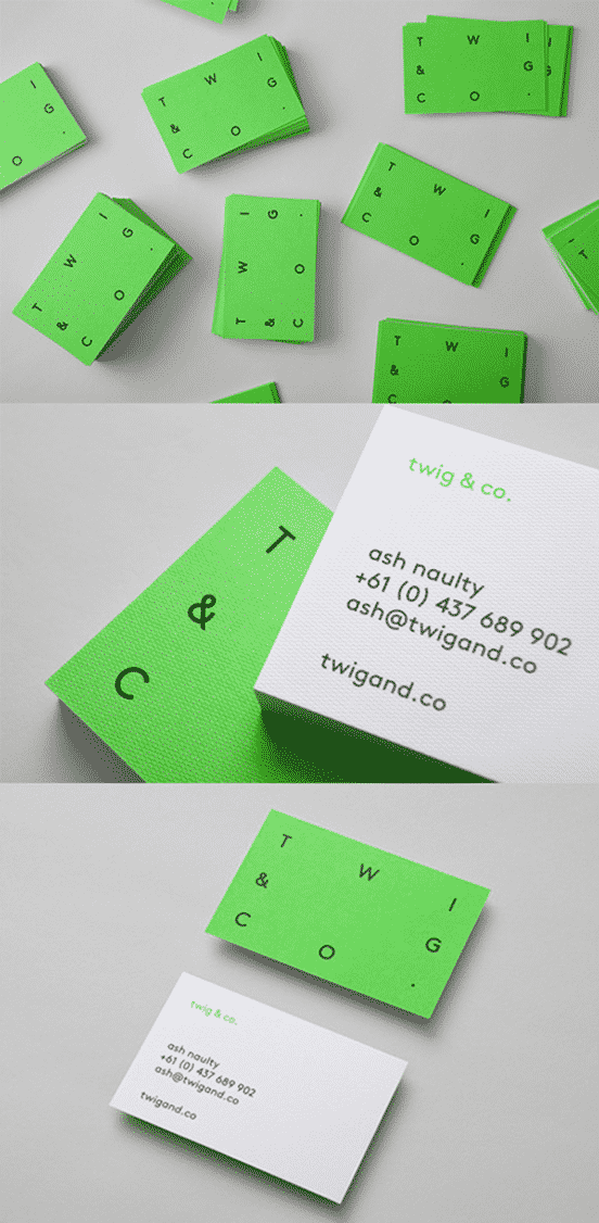 Eye Catching Minimalist Colour Block Business Card