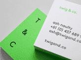 Eye Catching Minimalist Colour Block Business Card