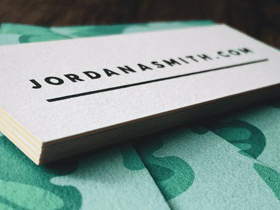 Jordan A. Smith Business Cards