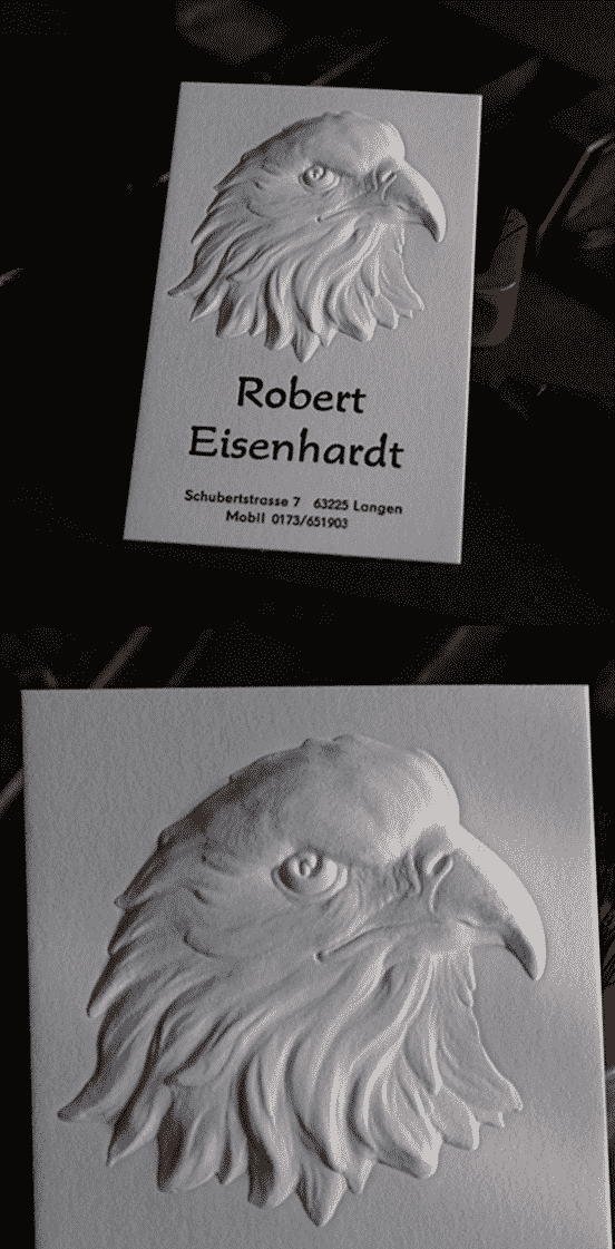 3D Letterpress Business Card