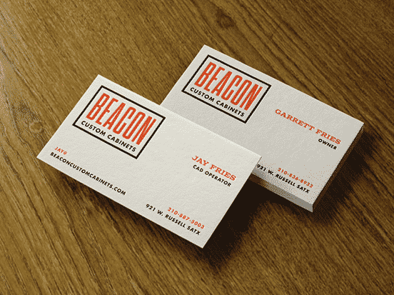 Beacon Custom Cabinets Business Card