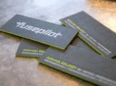 Bold Black Textured Business Card