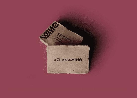 Clan Del Vino Business Card