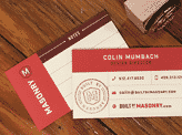 Masonry Business Cards by Colin Mumbach