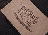 Earthy Letterpress Business Card
