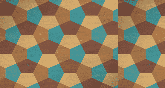 Geometric Marquetry Pattern