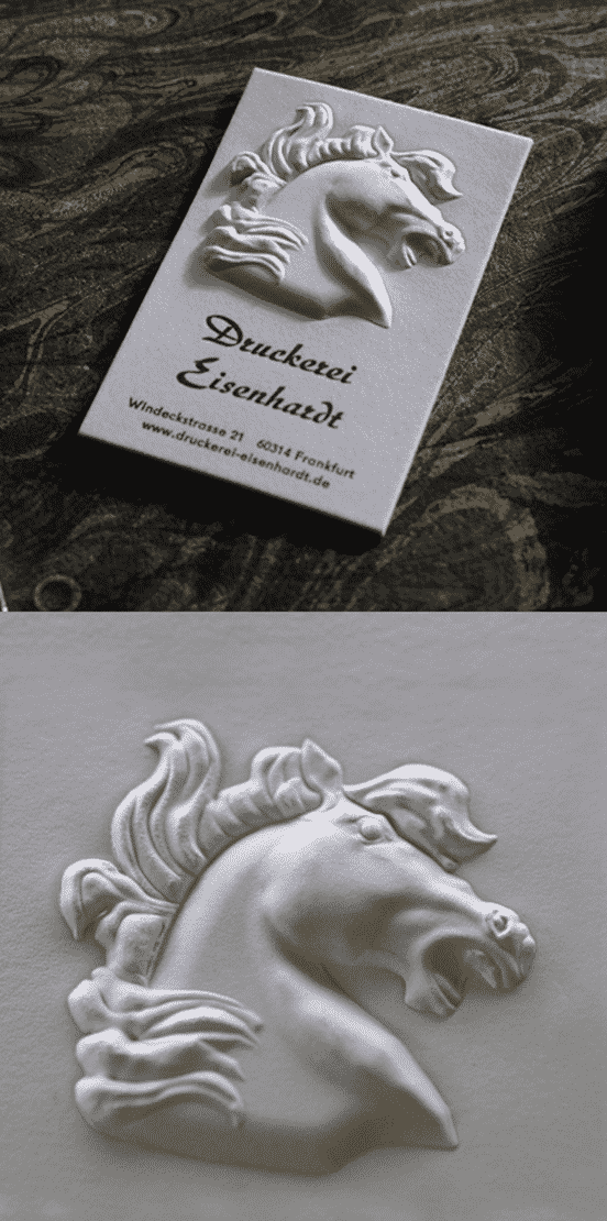 High Relief 3D Embossed Business Card