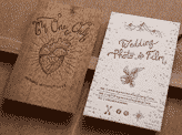 Laser Etched Layered Wooden Business Card