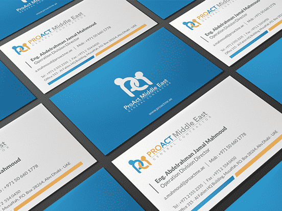PROACT Middle East Business card