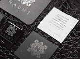 Silver Foil Square Business Card