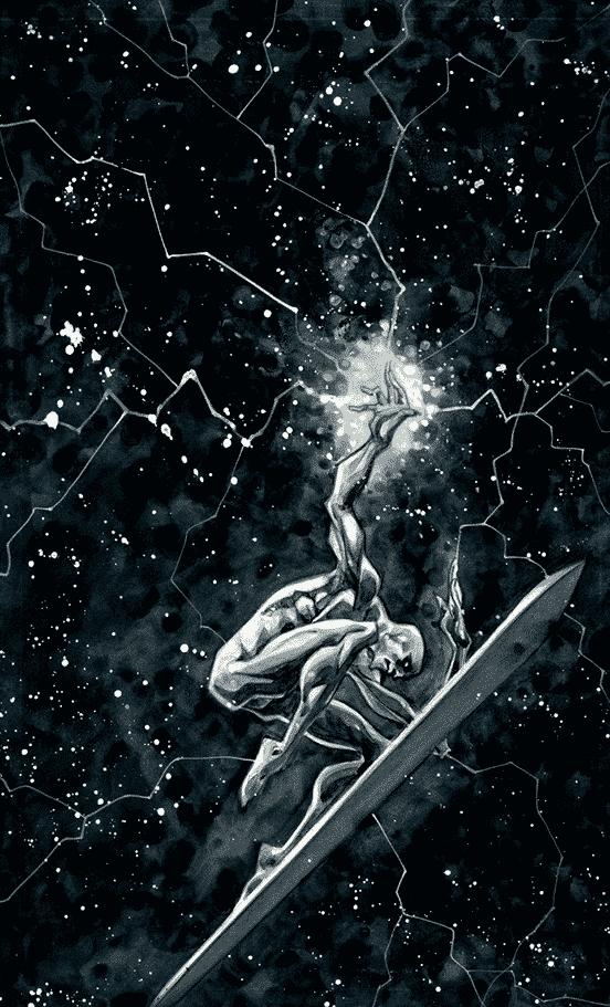 Silver Surfer Watercolor