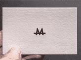 White Minimalist Design Business Card