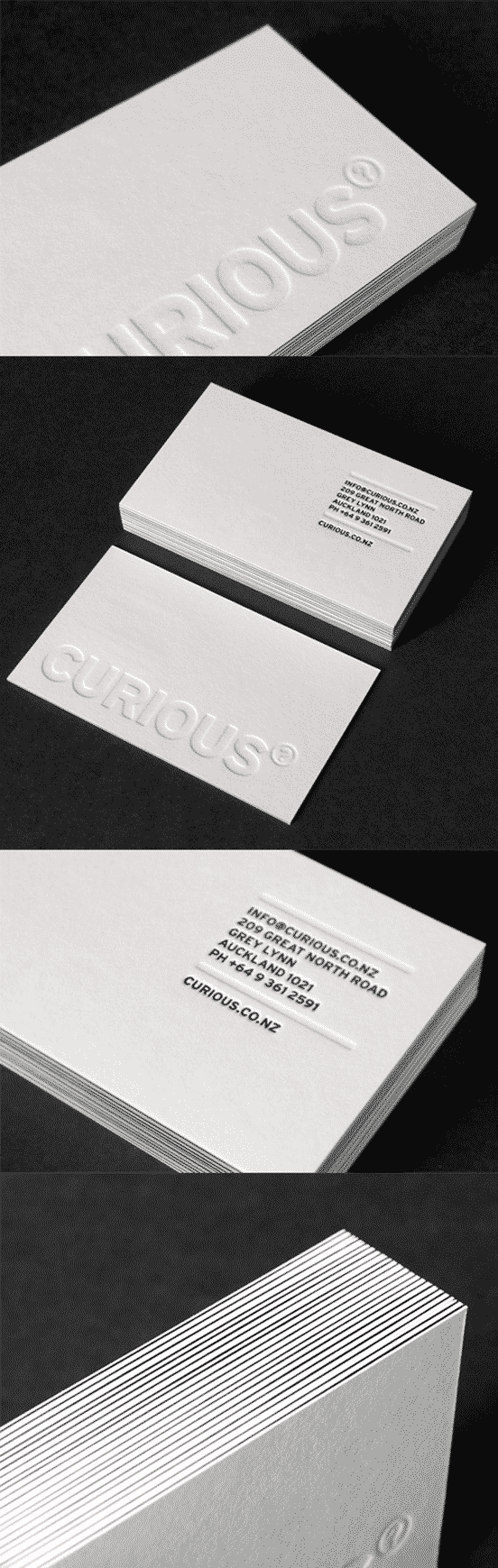 Deeply Embossed Business Card