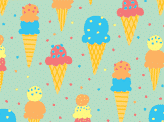 Ice cream pattern