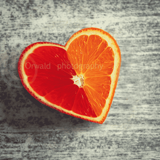 Heart Shaped Orange