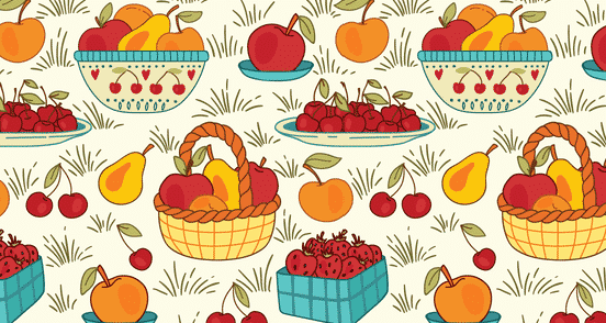 Fruit and Berry Pattern