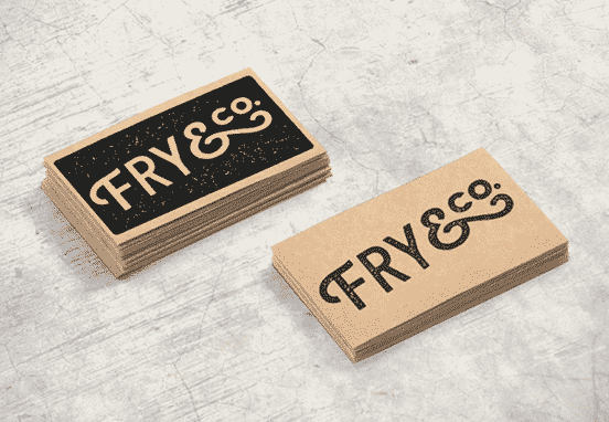 Fry & Co Stamped Business Cards