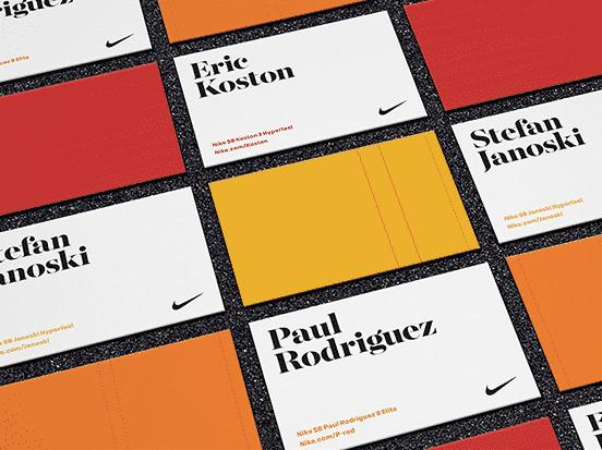 Nike Skateboard Business Cards