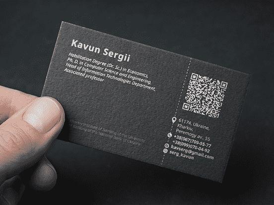 PH. D. Business Card