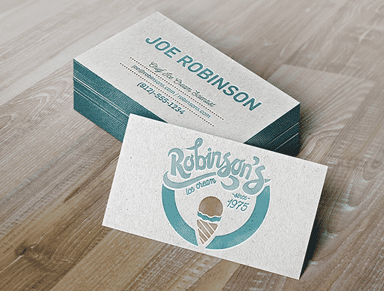 Robinson's Ice Cream Business Card